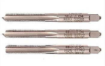 Thread taps for kitless pen rollerball nibs